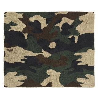 Sweet Jojo Designs Green Camo Military Accent Floor Rug