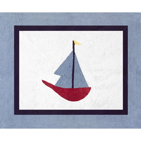 Sweet Jojo Designs Come Sail Away Nautical Accent Floor Rug