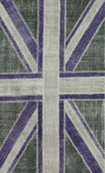nuLOOM Hand-knotted Union Jack New Zealand Wool Rug