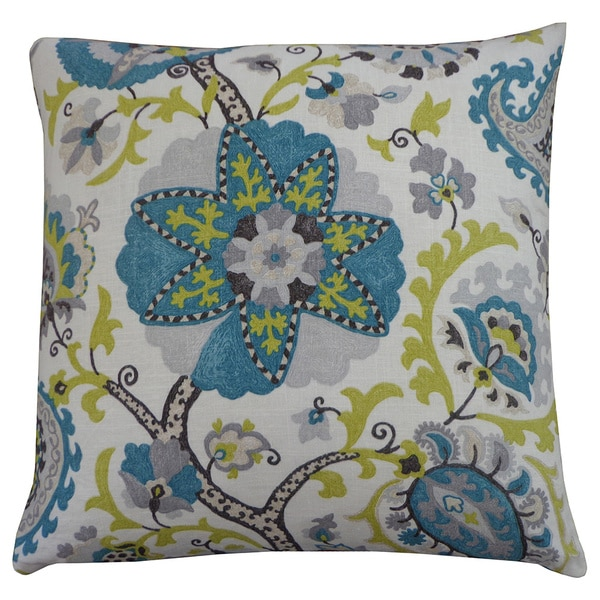 Jiti 24-Inch 'Amaryllis' Square Decorative Pillow