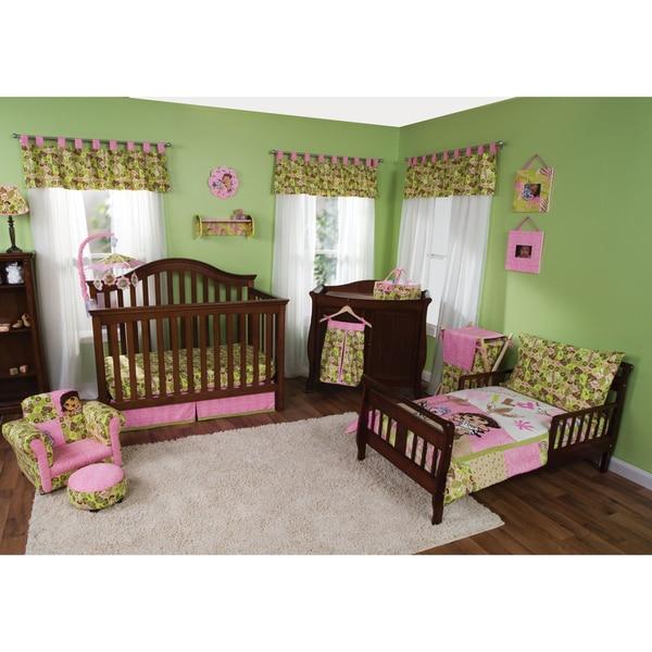 Trend Lab Dora The Explorer 7-piece Crib and Toddler Bedding Set