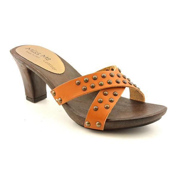 Miss Me? Women's 'Rowlena' Leather Heels (Size 6)