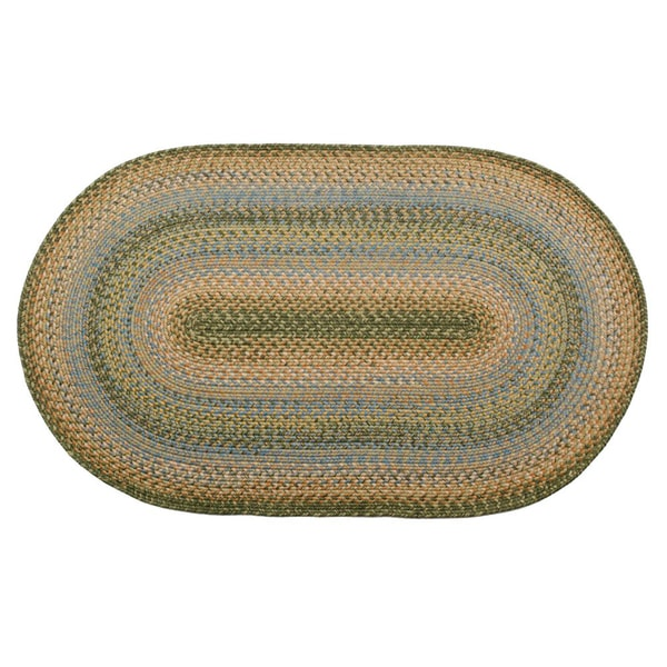 Oceanside Braided Indoor/ Outdoor Oval Rug (2' x 3')