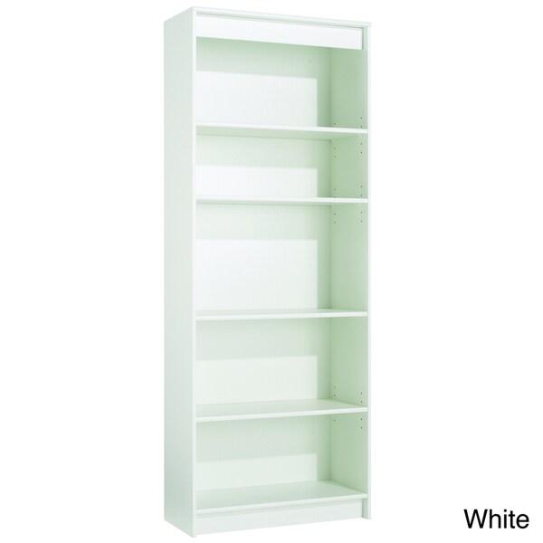 akadaHOME Five-Shelf Wooden Bookcase