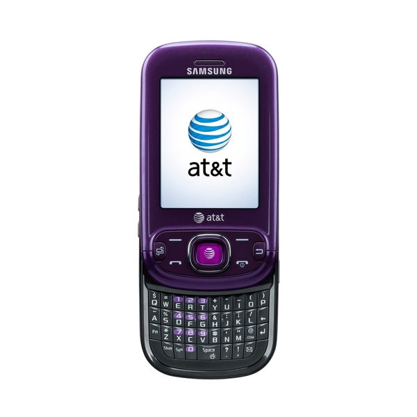 Samsung SGH-a687 Strive Cellular Phone - Slider - Purple