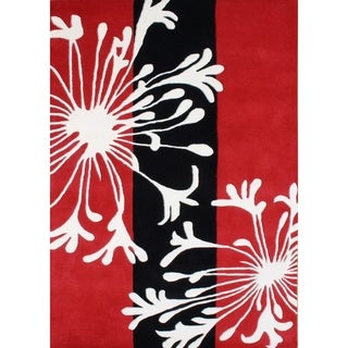 Alliyah Rugs Handmade Hand-tufted 'Sabrina' Red/ White Flakes Blended Wool Rug (9' x 12')
