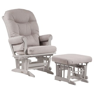 Dutailier Light Grey Multiposition Reclining Sleigh Glider and Nursing Ottoman Set (2 options available)