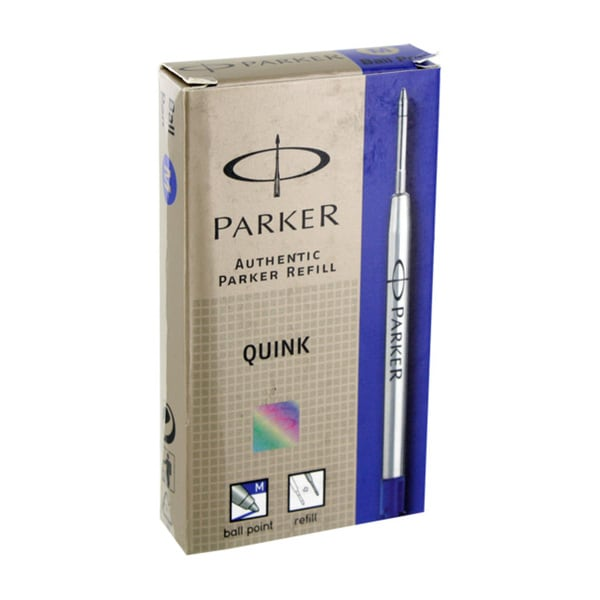 Parker Ball Point Quink Blue Ink Fine Point Pen Refill (Pack of 12)