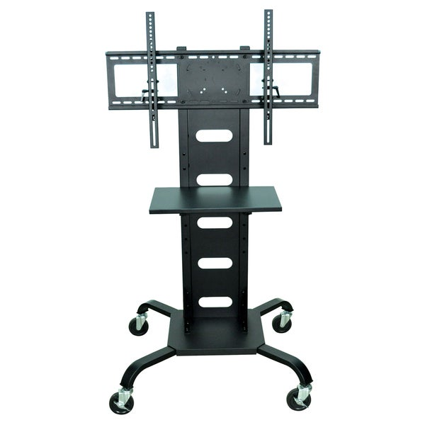 Offex Black Universal Mobile Flat-panel TV Stand/ Multimedia Cart