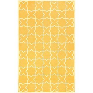 Hand-tufted Tiles Rug (3'5 x 5'5)
