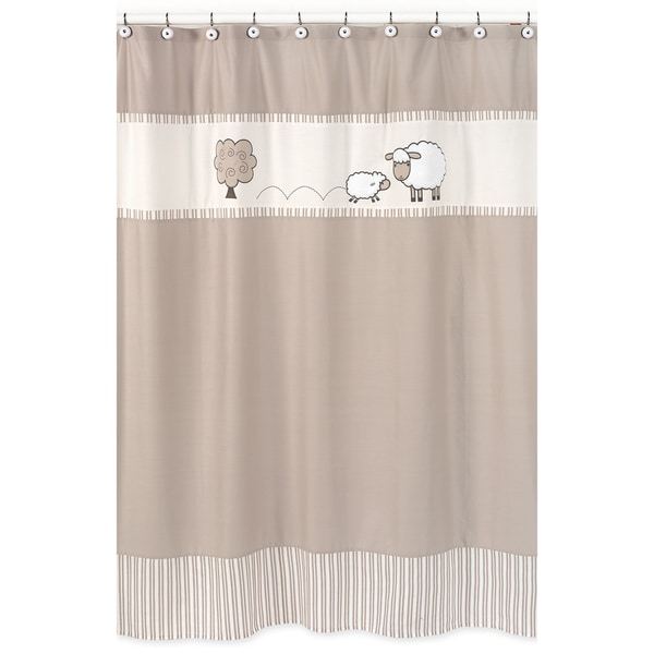 Sweet Jojo Designs Little Lamb Kids Shower Curtain