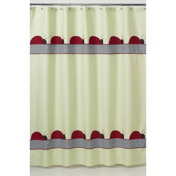 Ladybug Parade Kids Shower Curtain