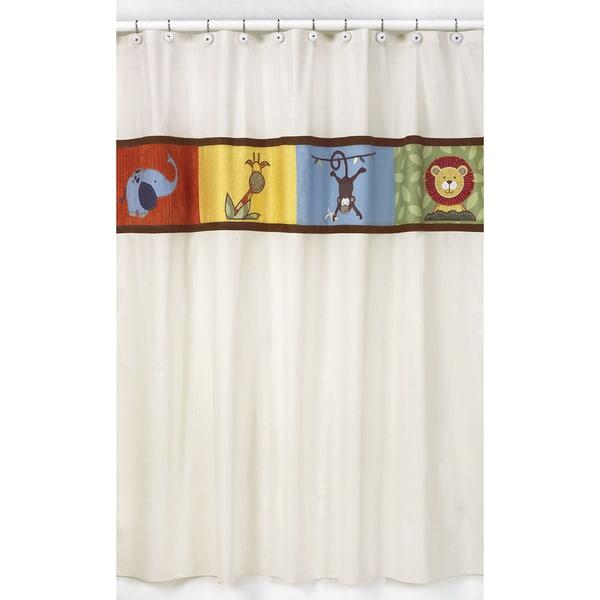 Sweet Jojo Designs Jungle Time Kids Shower Curtain