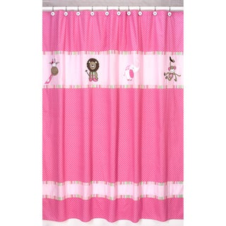 Sweet Jojo Designs Pink And Green Jungle Friends Kids Shower Curtain Free Shipping On Orders