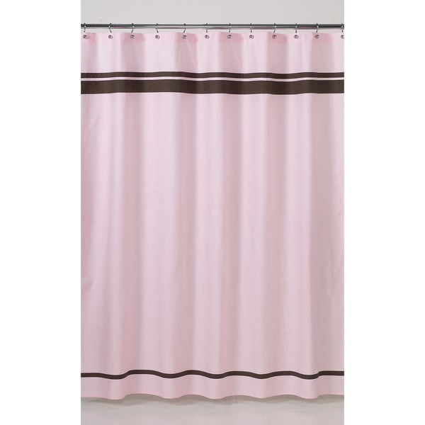 sweet jojo designs pink and brown hotel shower curtain free shipping on orders over 45. Black Bedroom Furniture Sets. Home Design Ideas