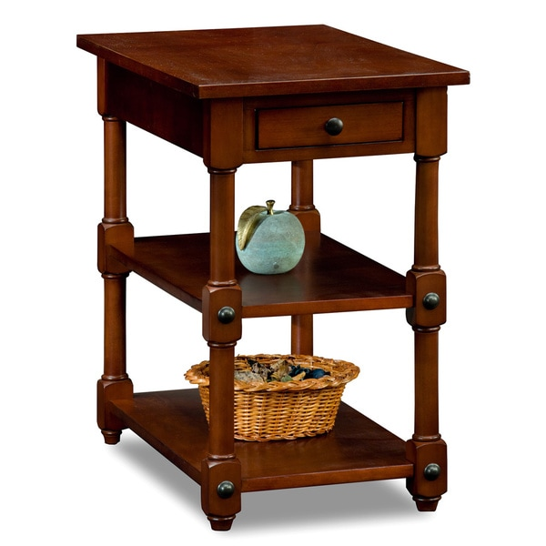 Tiered Shelf Chairside Table