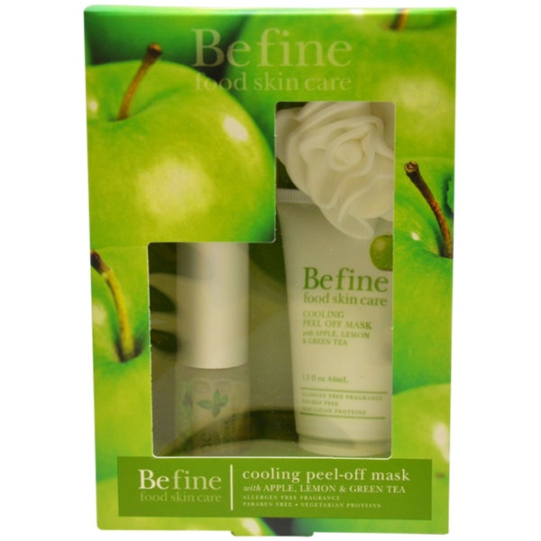 Befine Cooling Peel-off Mask with Apple, Lemon and Green Tea Women's 3-piece Kit