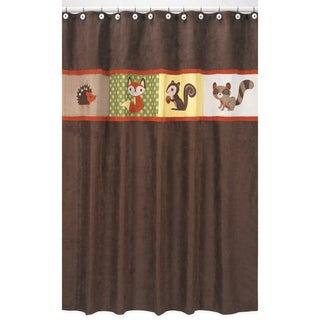 Sweet Jojo Designs Forest Friends Kids Shower Curtain