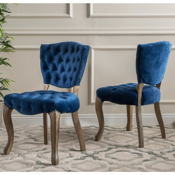 bates tufted dining chairs set of 2 by christopher knight home free shipping today