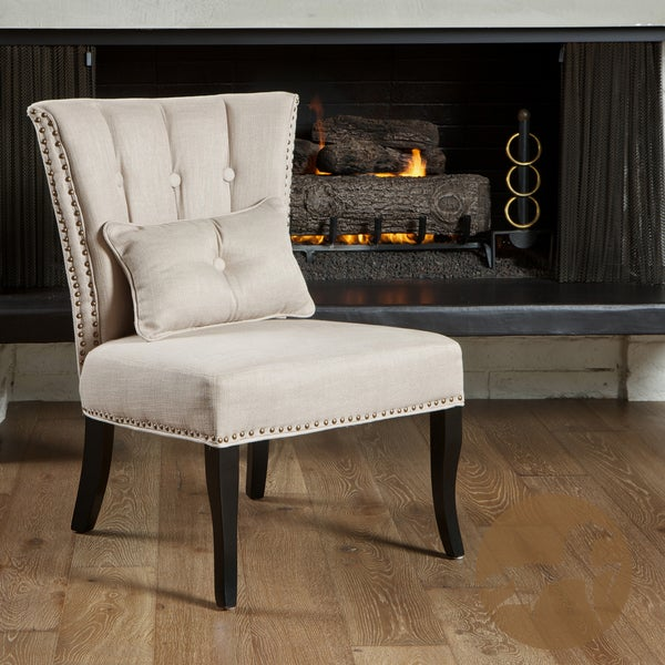 Franco Beige Fabric Accent Chair by Christopher Knight Home