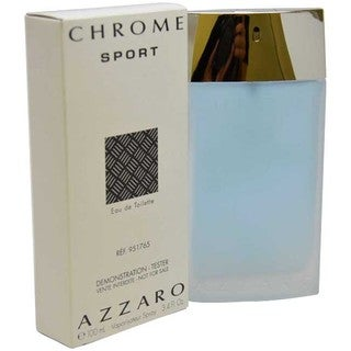 Loris Azzaro Chrome Sport Men's 3.4-ounce Eau de Toilette Spray (Tester)