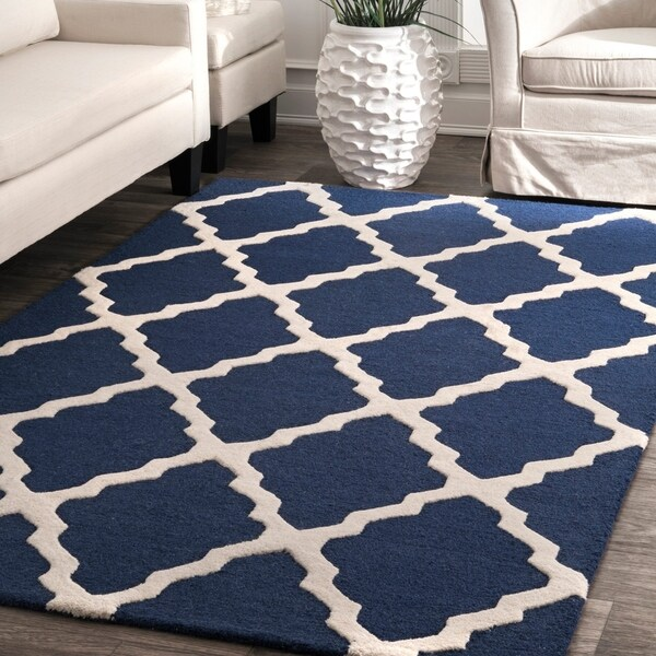 nuLOOM Handmade Alexa Moroccan Trellis Wool Area Rug. Opens flyout.