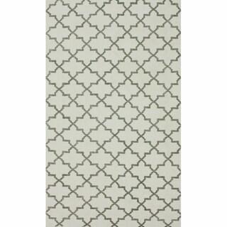 nuLOOM Handmade Flatweave Marrakesh Trellis Natural Cotton Rug (6' x 9')