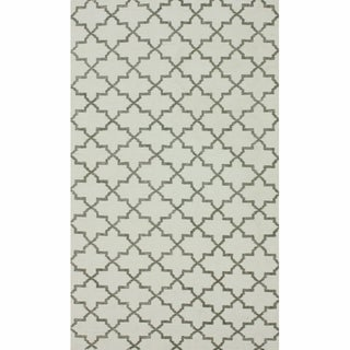 nuLOOM Handmade Flatweave Marrakesh Trellis Natural Cotton Rug (8' x 10')