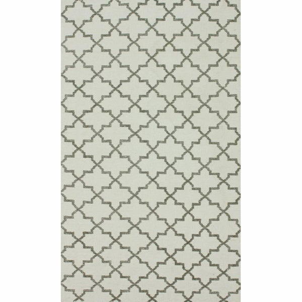 nuLOOM Handmade Flatweave Marrakesh Trellis Natural Cotton Rug (8' x 10')