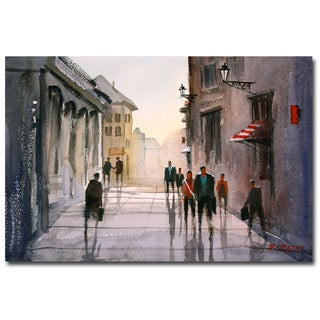 Ryan Radke 'A Stroll in Italy' Canvas Art