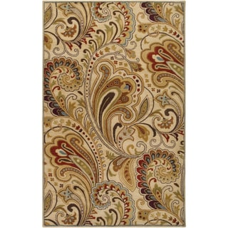 Hand-tufted Reatta Beige Wool Rug (9' x 13')