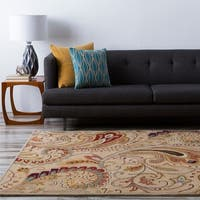 Hand-tufted Reatta Beige Wool Area Rug - 9' x 13'