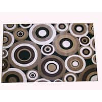 Generations Black Abstract Circles Rug - 7'9 x 10'5