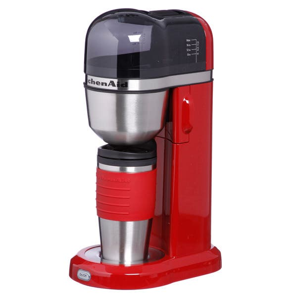 Enjoyable Shop Kitchenaid Kcm0402Er Empire Red Personal Coffeemaker Home Remodeling Inspirations Gresiscottssportslandcom