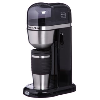 KitchenAid KCM0402OB Onyx Black Personal Coffee Maker w/ Mug