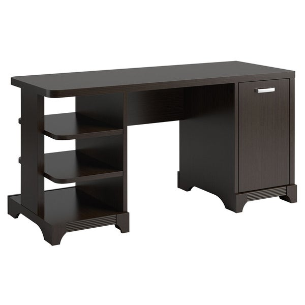 Bush Furniture Lattix Collection Double Pedestal Desk