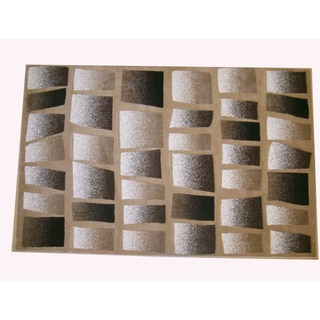 Generations Champagne Abstract Tranche Rug (7'9 x 10'5)