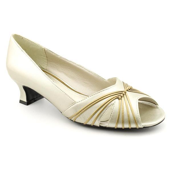 Elegant  By Caparros Women39s Dress Shoe Zurina Wide Width  Mercury Metallic