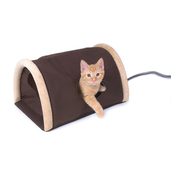 K&H Outdoor Heated Kitty Camper with Heated Pad