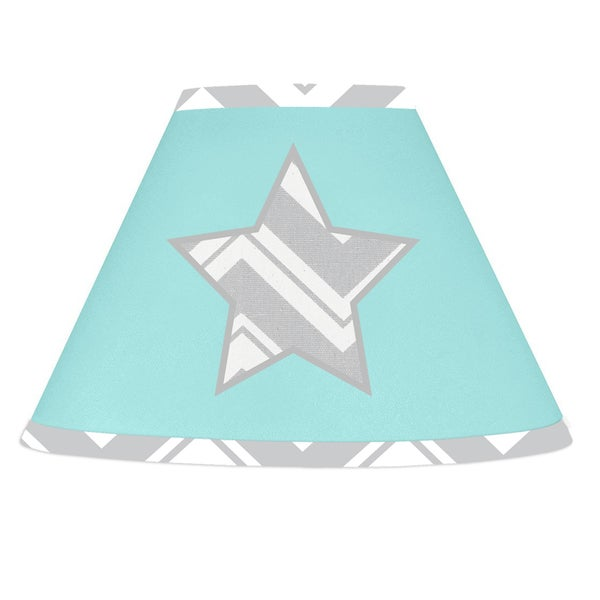 Sweet JoJo Designs Turquoise and Grey Zig Zag Lamp Shade