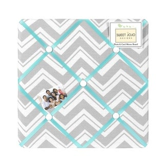 Sweet JoJo Designs Turquoise and Grey Zig Zag Bulletin Board