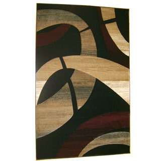 Generations Black Abstract Cosmos Rug (5'2 x 7'2)