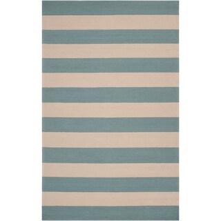 Hand-hooked Prato Stormy Sea Indoor/Outdoor Stripe Rug (2' x 3')