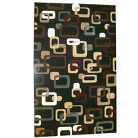 Generations Black Abstract Circuit Rug - 5'2 x 7'2