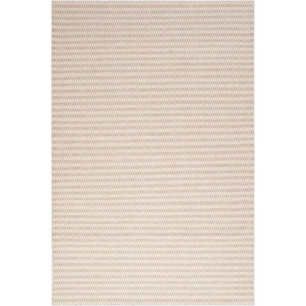 Hand-woven Emilia Biscotti Wool Area Rug - 8' X 11'