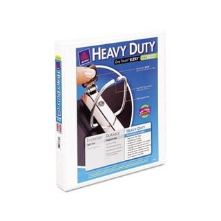 Avery White EZD Ring 1-inch Capacity Reference View Binders (Pack Of 12)