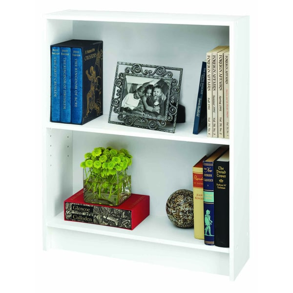 Talon White 2 Shelf Bookcase