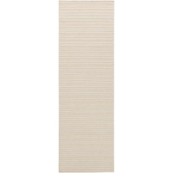 Hand-woven Lecce Vanilla Wool Runner Rug (2'6 x 8')
