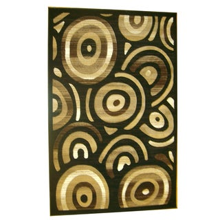 Generations Black Abstract Stellar Rug (7'9 x 10'5)