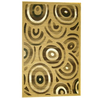 Generations Champagne Abstract Stellar Rug (3'9 x 5'1)